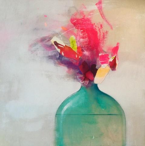 Fran Mora, Flowers in Vase I