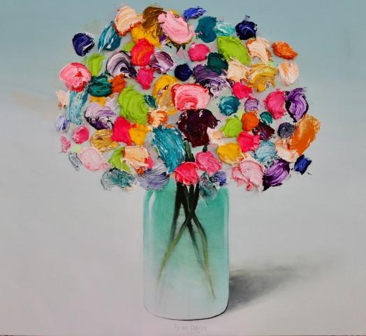 Fran Mora, Textured Flowers No.V, 2019