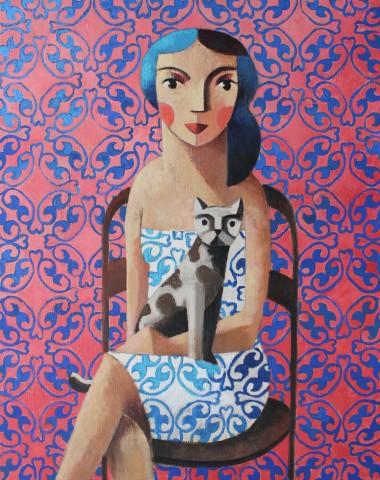 Didier Lourenço, Cat & Woman, 2020