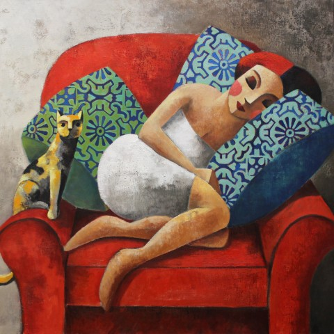 Didier Lourenço, Yellow Cat, 2019
