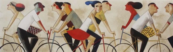 Didier Lourenço, En Bici