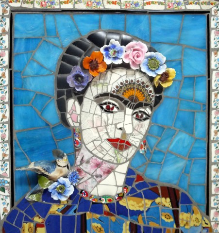 Susan Elliott, Frida with Bluebird, 2019