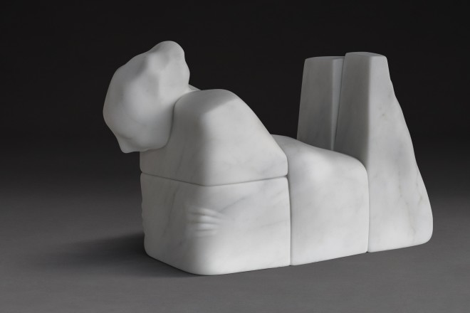 Whispering to Sands, White Statuary - Marble of Carrara, 29 x 68 x 42 cm, 2017