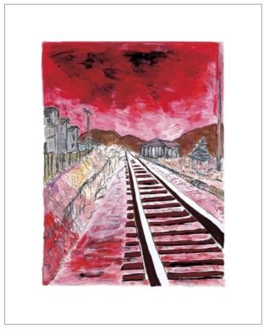 Bob Dylan, Train Tracks (red), 2010