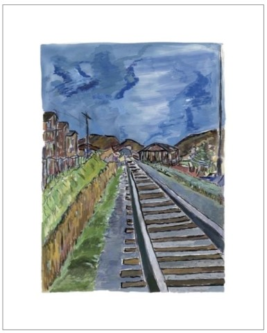 Bob Dylan, Train Tracks (blue), 2010