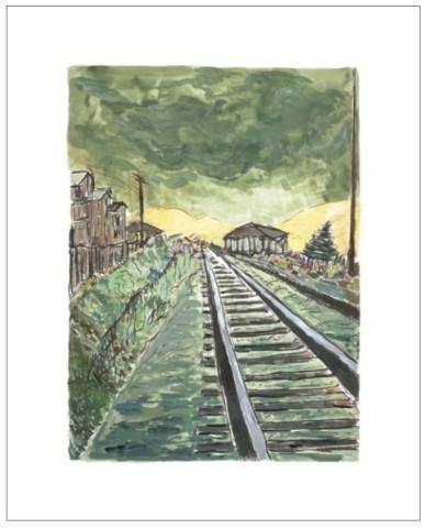Bob Dylan, Train Tracks (green), 2010