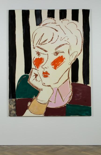 <p>Ella Kruglyanskaya, Pixie on Stripes, 2015</p>