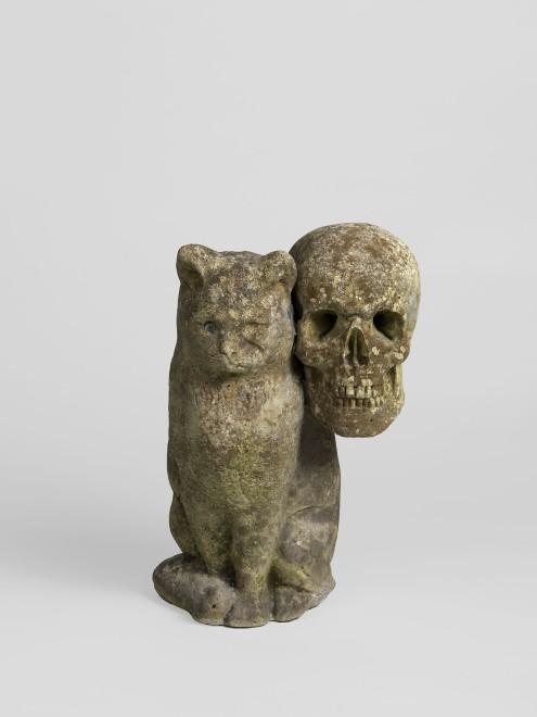 <p>Jean-Luc Moulène,<em>Cat/Skull,</em>2016</p>