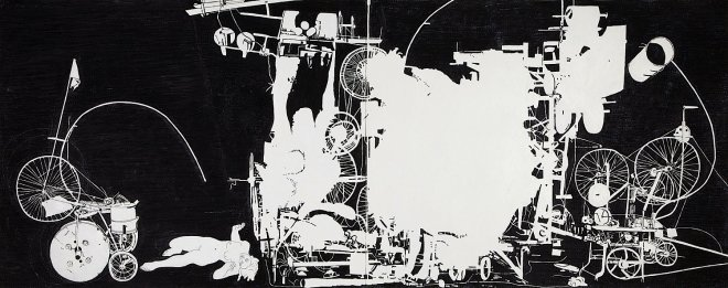 <p><span lang=&#34;EN-US&#34;>H.2.N.Y. Jean Tinguely s Homage to New York Fails to Destroy Itself in the Sculpture Garden at MOMA in March 1960</span><span lang=&#34;EN-US&#34;>, 2007</span></p><p><span lang=&#34;EN-US&#34;>oil stick on paper</span></p>