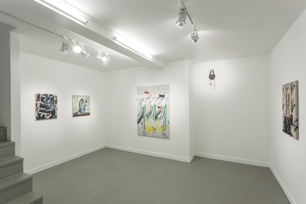 <p>Bridget Mullen, <i>Forgettable Sunsets, </i>2018,Installation view at Annet Gelink Gallery, Amsterdam, photos by Michel Claus</p>