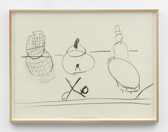 Roy Oxlade  Untitled  Charcoal on paper  55.5 x 76 cm, 21 7/8 x 29 7/8 ins 61.4 x 81.4 cm, 24 1/8 x 32 1/8 ins, framed