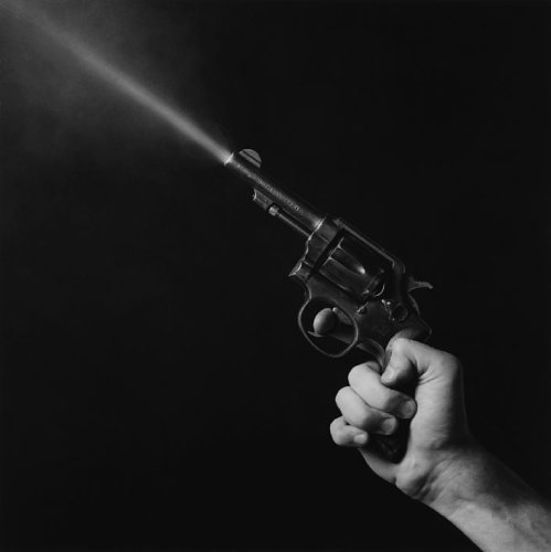 Robert Mapplethorpe  Gun Blast, 1985  Stamped and signed by the Robert Mapplethorpe Estate  Silver gelatin print  40.6 x 50.8 cms / 16 x 20 ins  Edition 10/10