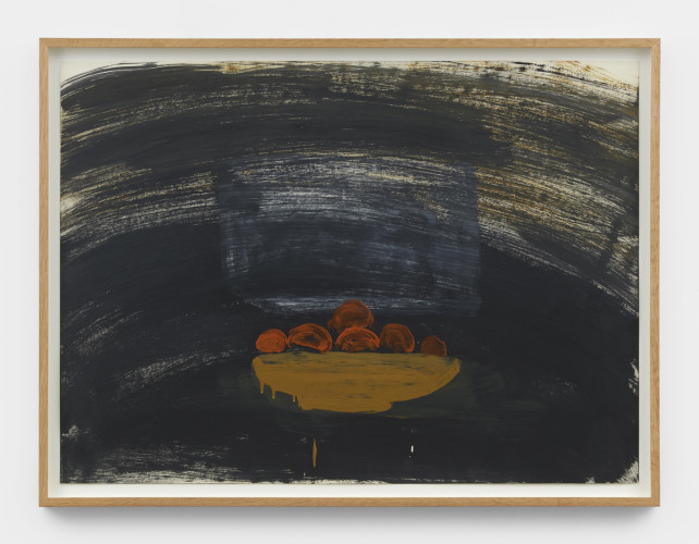 Roy Oxlade  Untitled, c. 2004-2006  Oil on paper  55.8 x 76 cm, 22 x 29 7/8 ins 61.4 x 81.4 cm, 24 1/8 x 32 1/8 ins, framed