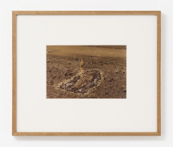 Untitled: Silueta Series (Figure with Hay Burned)