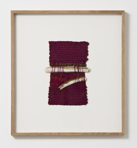 Sheila Hicks  My Way or Your Way, 2013  Signed and dated on verso  Cotton, razor steel clams, metallic fibre  23.5 x 16.5 cm / 9 1/4 x 6 1/2 ins
