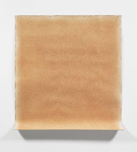 Michelle Stuart  Sayreville Quarry, 1976  Rock marks, Sayreville earth on muslin-mounted rag paper  177.8 x 157.5 cm, 70 x 62 ins