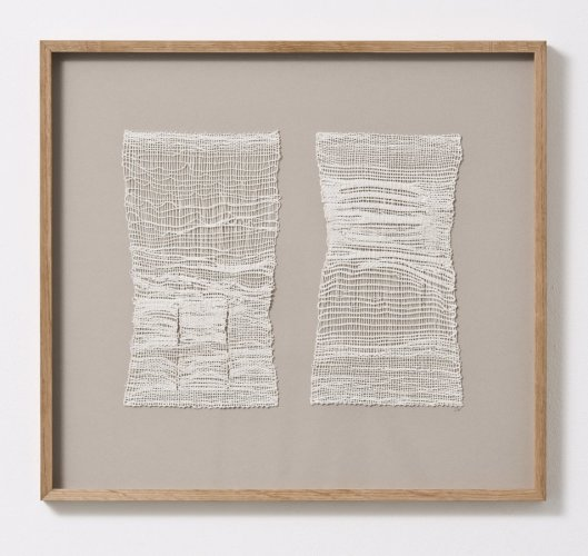 Sheila Hicks  Monsieur et Madame, 2013  Linen  24 x 13 cm / 5 1/8 x 9 1/2 ins (each)