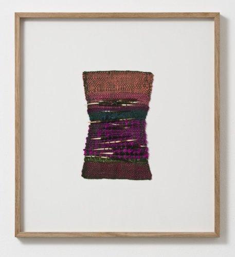 Sheila Hicks  Paris, 2013  Linen, silk, wool, porcupine quills  14.5 x 21 cm / 5 3/4 x 8 1/4 ins