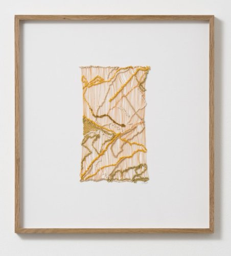 Sheila Hicks  Wed to Singular Paths, 2013  Cotton, linen, silk, metallic fibre  24.5 x 14.5 cm / 9 5/8 x 5 3/4 ins
