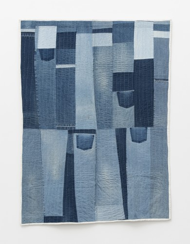 Loretta Pettway Bennett, Work-clothes strips, 2003. Denim. 200.7 x 152.4 cm, 79 x 60 ins. © Loretta Pettway Bennett / Artists Rights Society (ARS), New York and DACS, London