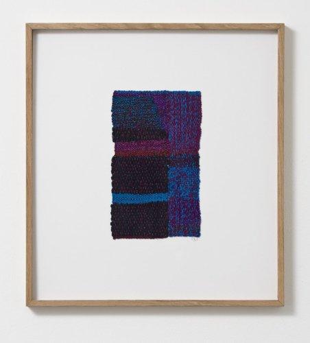 Sheila Hicks  Strike to the Mind's Eye, 2013  Cotton, metallic fibre  23.5 x 14 cm / 9 1/4 x 5 1/2 ins