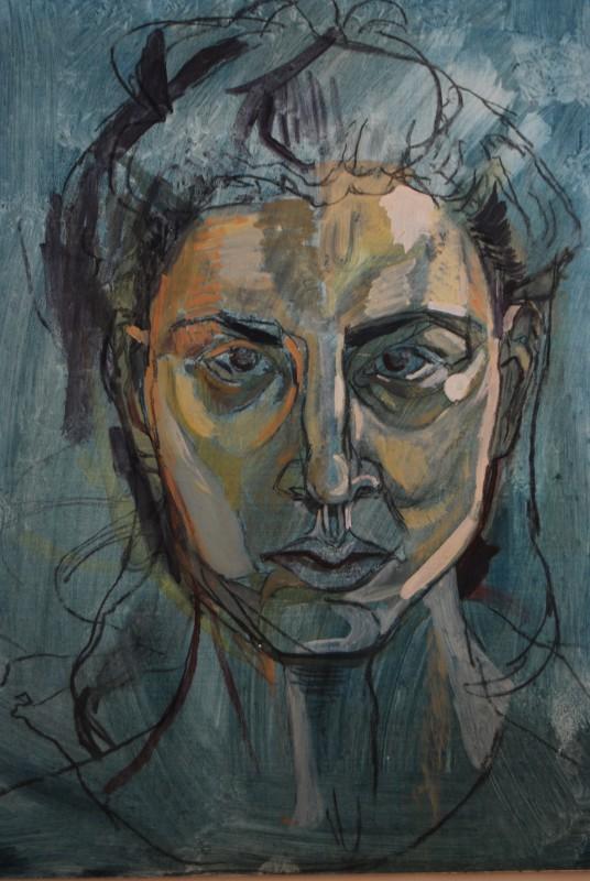 "<span class=""artist""><strong>Deborah Lubelska Katz</strong></span>, <span class=""title""><em>Last Self-Portrait</em>, 2009</span>"