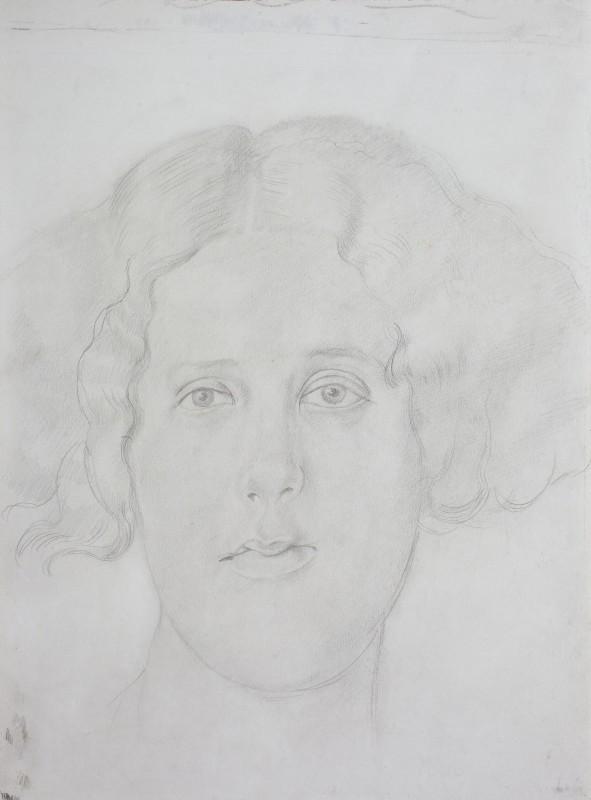 "<span class=""artist""><strong>Sir Stanley Spencer</strong></span>, <span class=""title""><em>Portrait of Doreen Harper</em>, c.1941</span>"