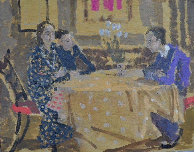 """<span class=""""artist""""><strong>Peter Lloyd-Jones</strong></span>, <span class=""""title""""><em>The Conversation</em></span>"""