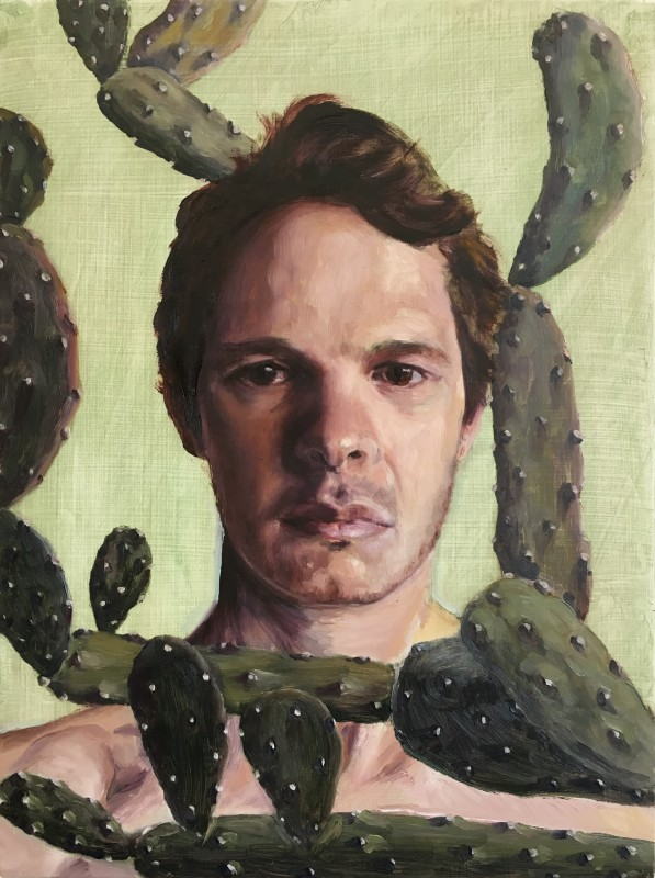 "<span class=""artist""><strong>Ed Saye</strong></span>, <span class=""title""><em>Self Portrait with Cactus</em>, 2016</span>"