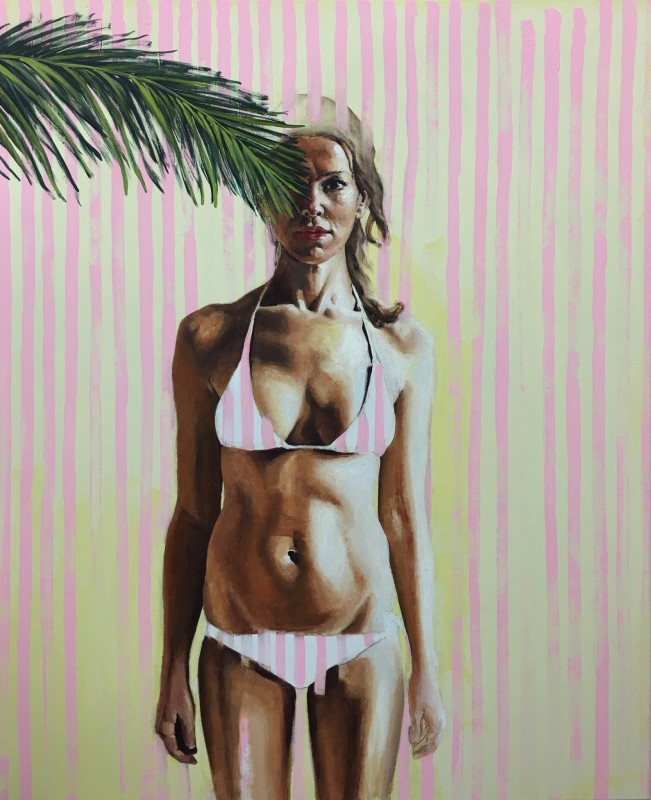 "<span class=""artist""><strong>Stella Kapezanou</strong></span>, <span class=""title""><em>Self Portrait in Miami</em>, 2016</span>"