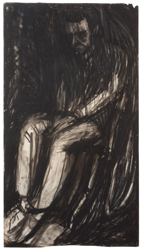 "<span class=""artist""><strong>Leon Kossoff</strong></span>, <span class=""title""><em>Young Man Seated</em>, 1961</span>"