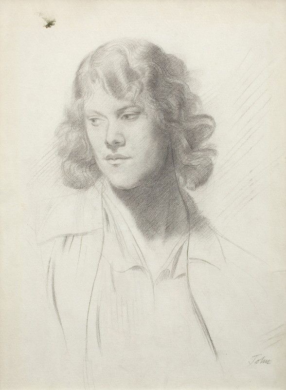 "<span class=""artist""><strong>Augustus John</strong></span>, <span class=""title""><em>Head of a Woman</em>, 1920s c.</span>"