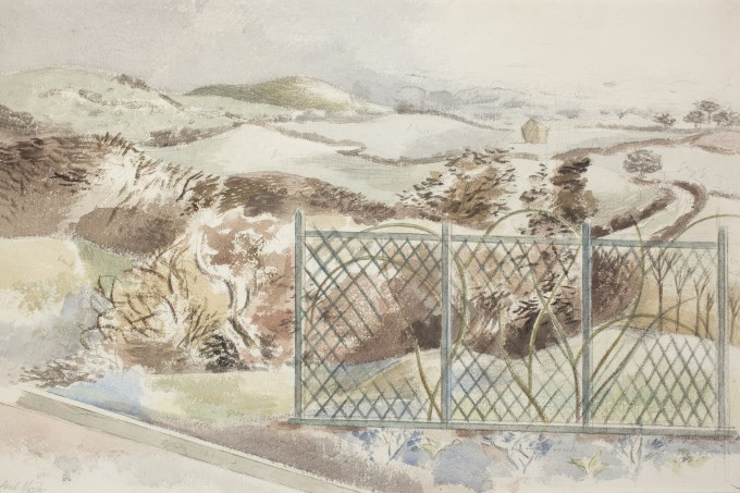 "<span class=""artist""><strong>Paul Nash</strong></span>, <span class=""title""><em>Icknield Way</em>, 1932</span>"