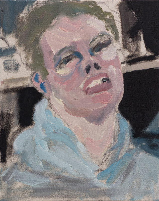 """<span class=""""artist""""><strong>Joshua Armitage</strong></span>, <span class=""""title""""><em>First Self Portrait of 2017</em>, 2017</span>"""