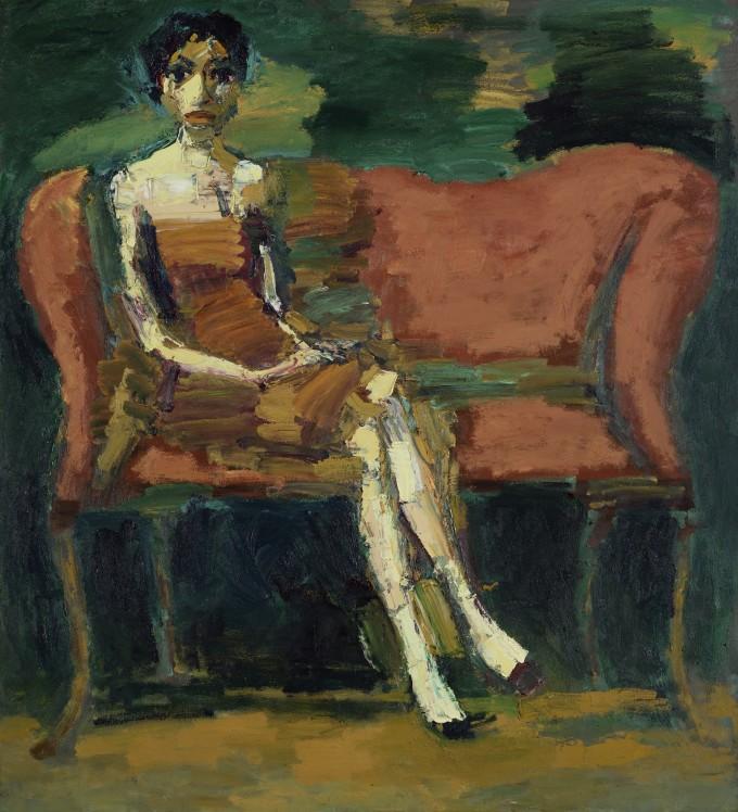 "<span class=""artist""><strong>Thomas Newbolt</strong></span>, <span class=""title""><em>Figure (Red Sofa)</em>, 2015</span>"