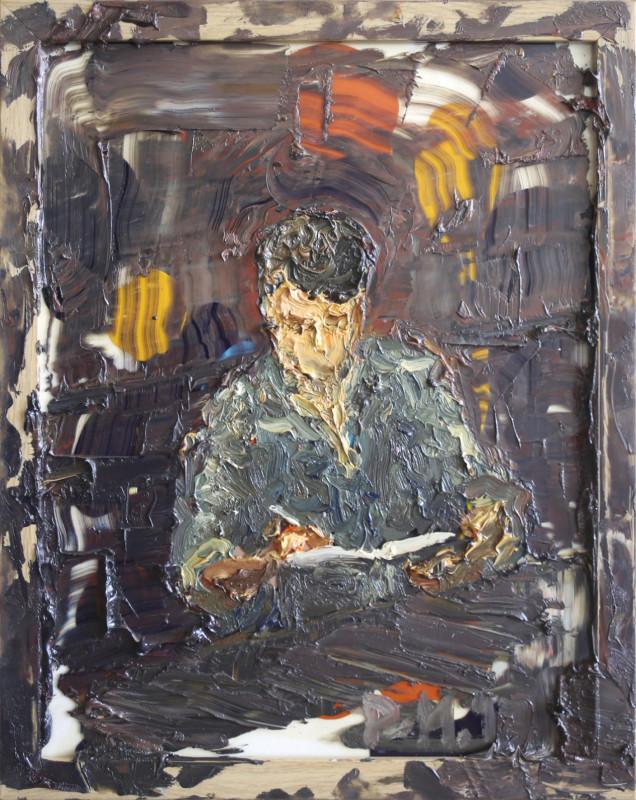 "<span class=""artist""><strong>Danny Mooney</strong></span>, <span class=""title""><em>Self Portrait Sketching</em>, 2017</span>"