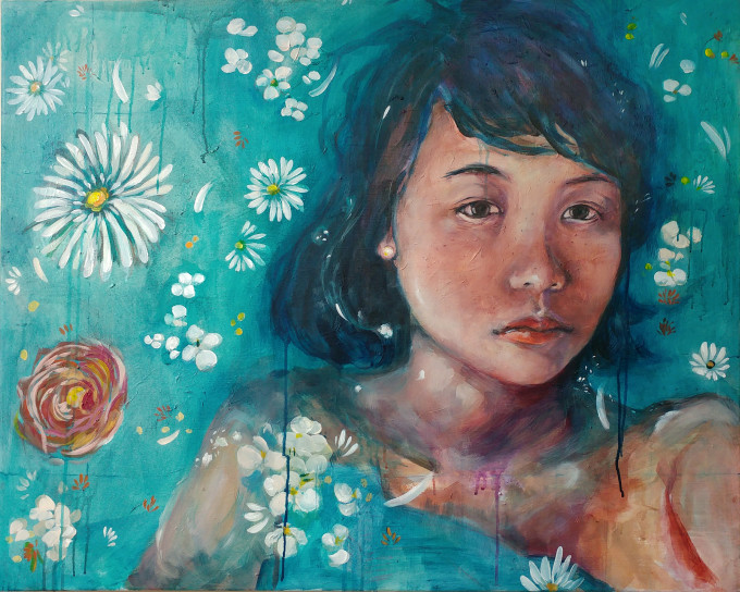 """<span class=""""artist""""><strong>Janet Im</strong></span>, <span class=""""title""""><em>Floating</em>, 2017</span>"""