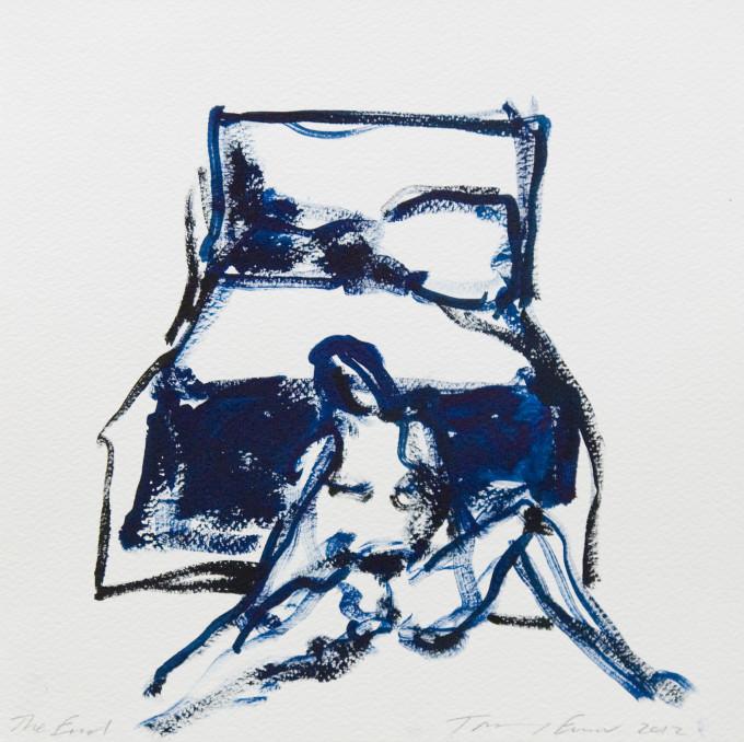 """<span class=""""artist""""><strong>Tracey Emin</strong></span>, <span class=""""title""""><em>The End</em>, 2012</span>"""