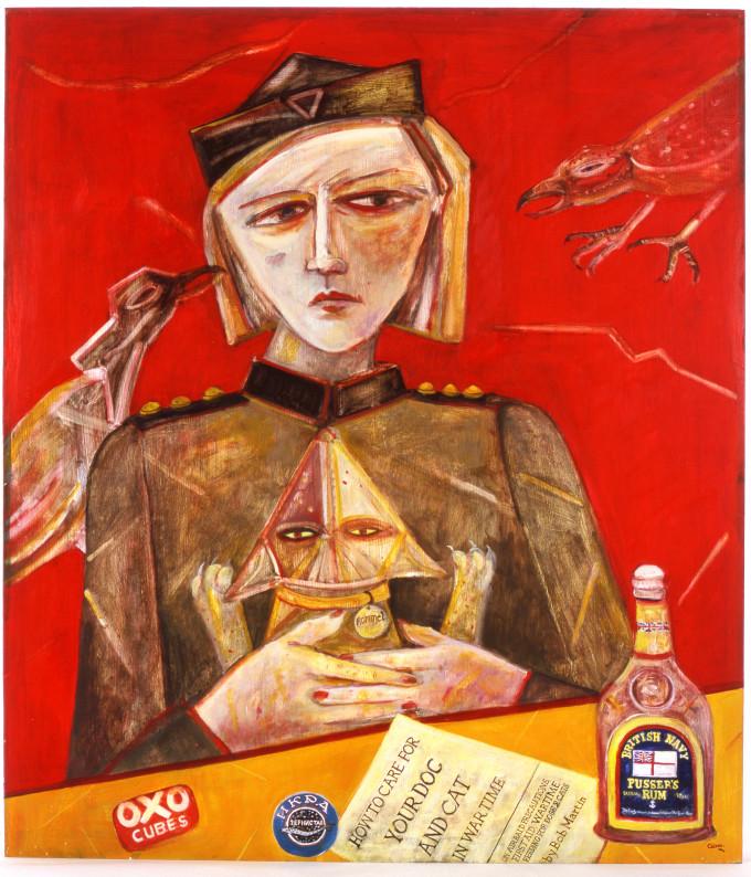 """<span class=""""artist""""><strong>Joyce W Cairns</strong></span>, <span class=""""title""""><em>Pusser's Rum</em>, 2002</span>"""