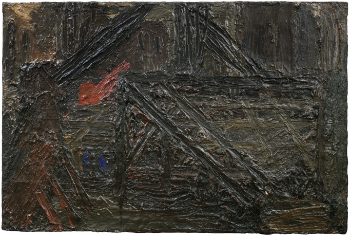 "<span class=""artist""><strong>Frank Auerbach</strong></span>, <span class=""title""><em>Building Site near St Paul's: Winter</em>, 1955, c.</span>"