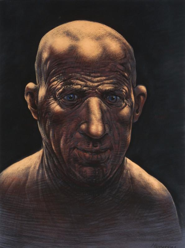 "<span class=""artist""><strong>Peter Howson</strong></span>, <span class=""title""><em>Self Portrait Repentant</em>, 2001</span>"
