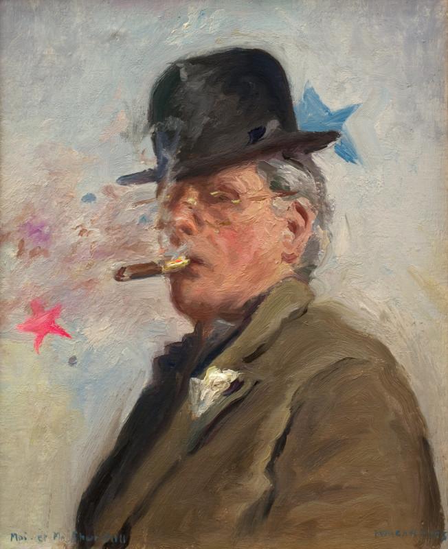 "<span class=""artist""><strong>Howard Morgan</strong></span>, <span class=""title""><em>Moi et Ma Churchill</em>, 2015</span>"