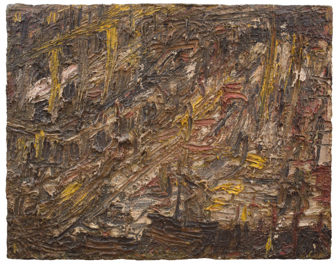 "<span class=""artist""><strong>Leon Kossoff</strong></span>, <span class=""title""><em>City Building Site</em>, 1961</span>"