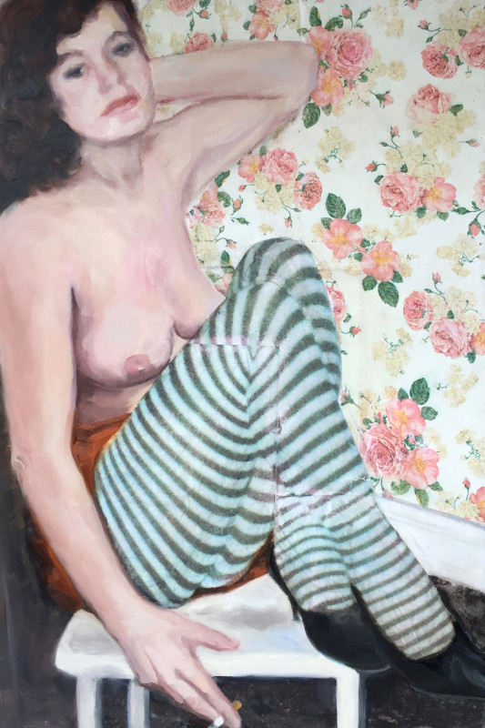 "<span class=""artist""><strong>Sarah Barker Brown</strong></span>, <span class=""title""><em>Sarah from Hull, Feb 1985</em>, 2017</span>"