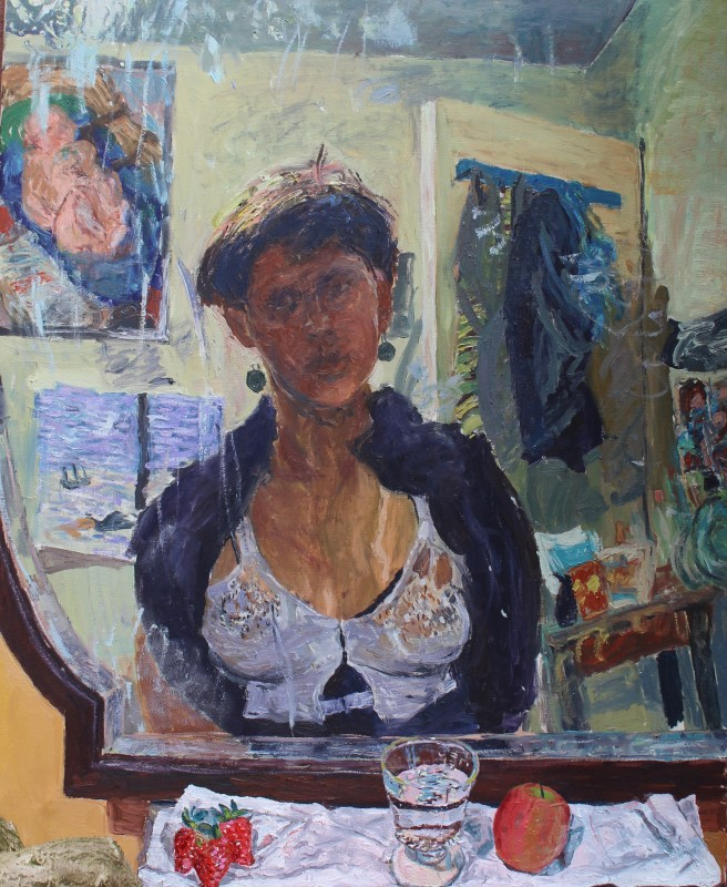 "<span class=""artist""><strong>Susan Wilson</strong></span>, <span class=""title""><em>Breastfeeding Self Portrait </em>, 1987/2017</span>"