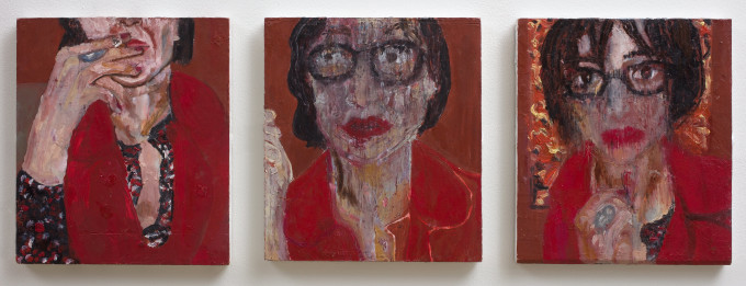 """<span class=""""artist""""><strong>Vanessa Mitter</strong></span>, <span class=""""title""""><em>Self-Portrait in Red</em>, 2017</span>"""