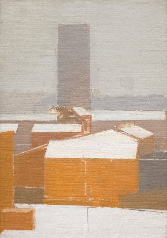 "<span class=""artist""><strong>Euan Uglow</strong></span>, <span class=""title""><em>Snow on Lambeth</em>, 1987</span>"