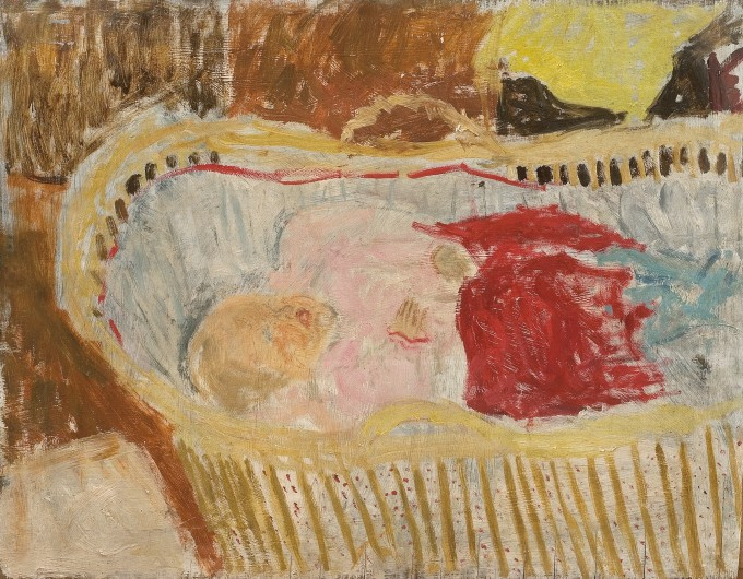 """<span class=""""artist""""><strong>Jean Cooke</strong></span>, <span class=""""title""""><em>Baby in Cradle</em>, 1960, c.</span>"""