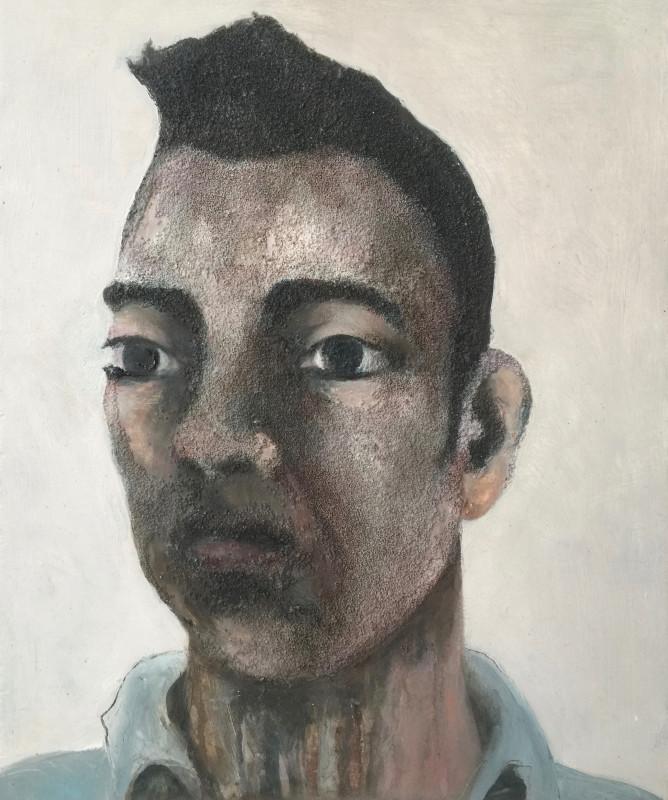 "<span class=""artist""><strong>Laura Hudson</strong></span>, <span class=""title""><em>Remembered; a self portrait</em>, 2017</span>"