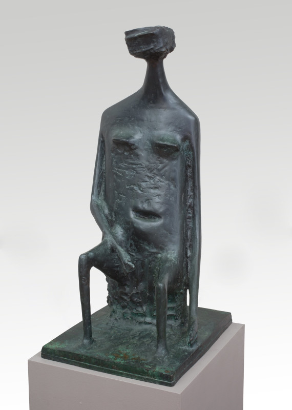 Seated Woman with Square Head (double base)